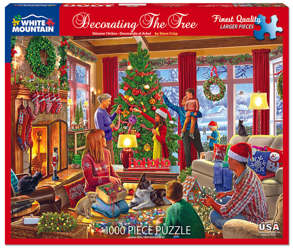 Decorating The Tree (1527pz) - 1000 Piece Jigsaw Puzzle
