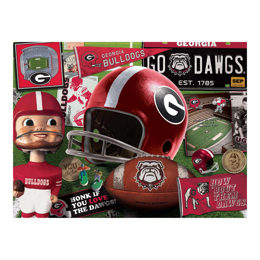 Georgia Bulldogs Retro Series (950196) - 500 Piece Jigsaw Puzzle
