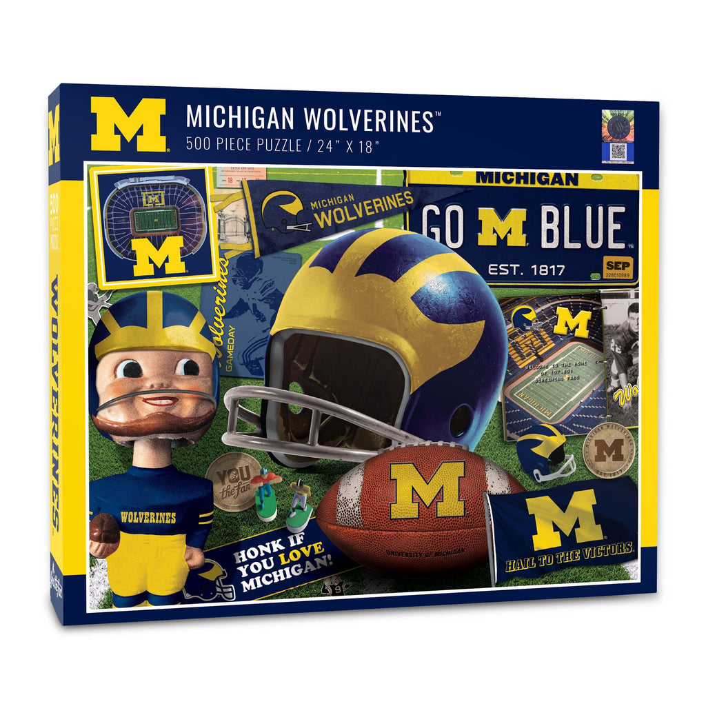 Michigan Wolverines Retro (950165) - 500 Piece Puzzle
