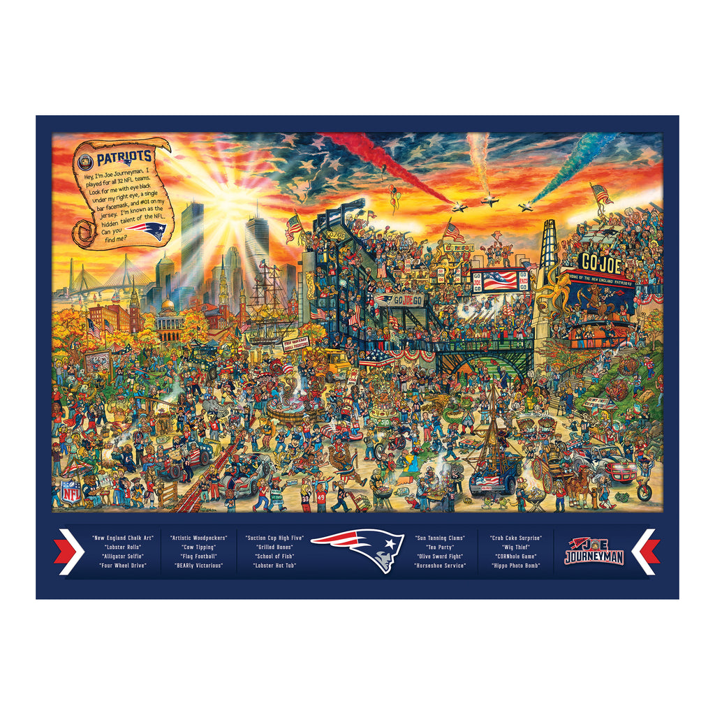 NE Patriots Puzzle - Find Joe Journeyman