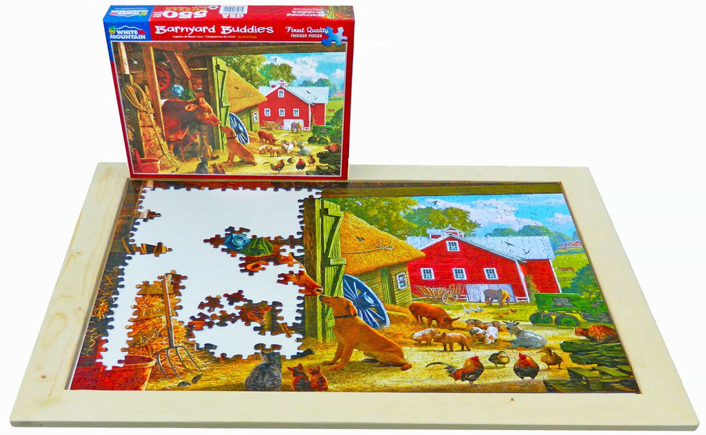 Wood Puzzle Tray - 550 PC Puzzle*