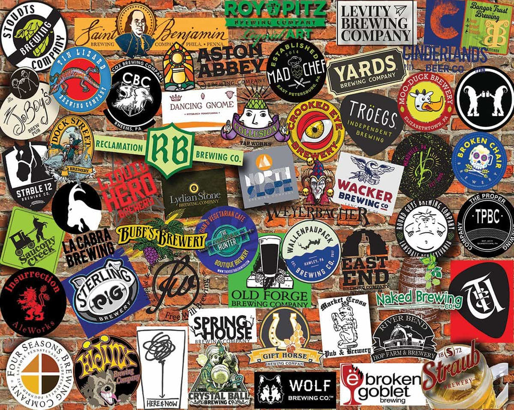 Pennsylvania Craft Beer (1395pz) - 1000 Piece Jigsaw Puzzle