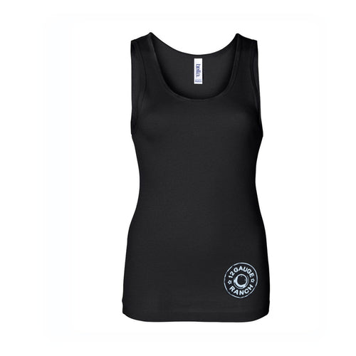 12 Gauge Ranch Women's Black Fitted Tank Top (TKRBBK02), Apparel, 12 Gauge Ranch, 12 Gauge Ranch 12 Gauge Ranch