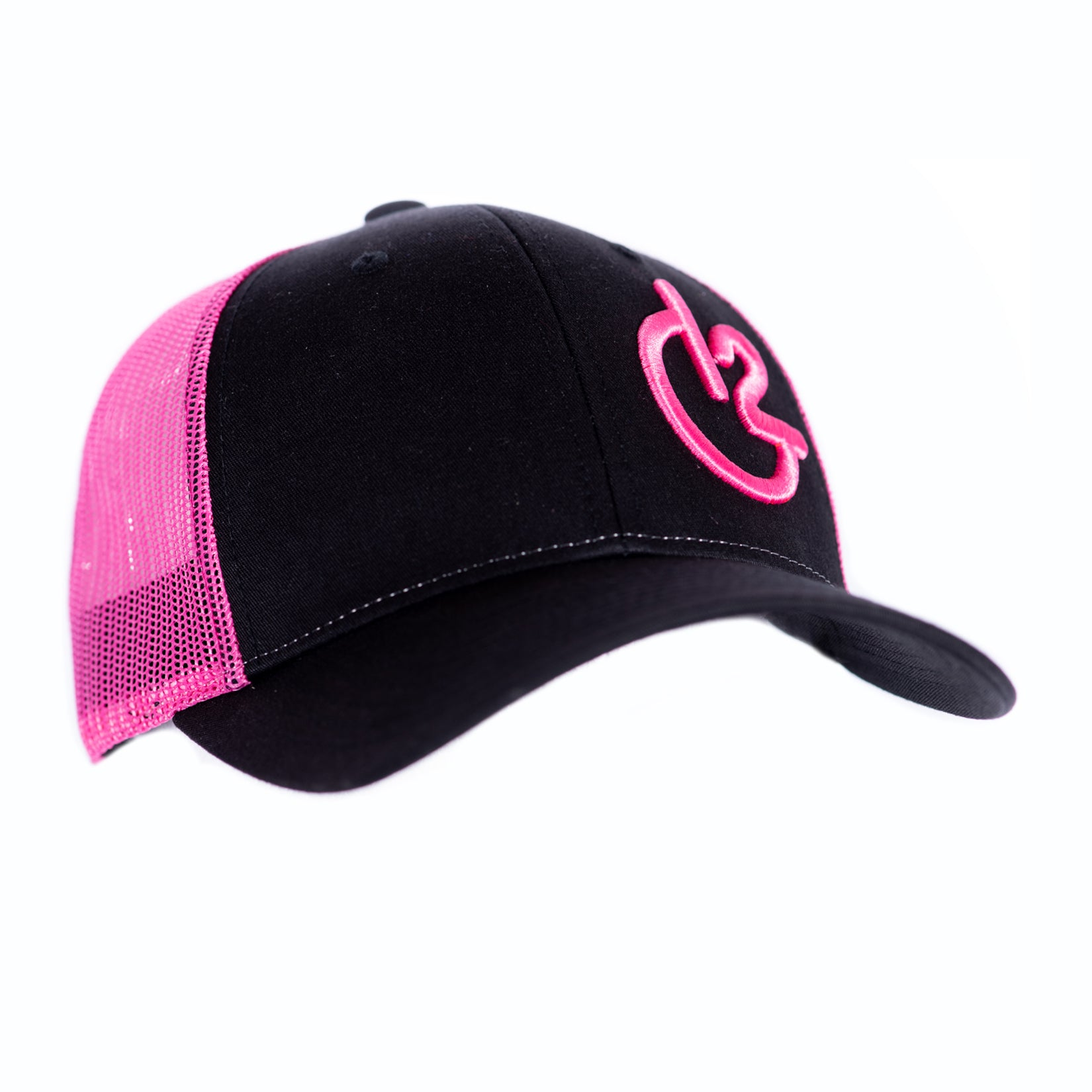 Black and Neon Pink 12 Gauge Low Profile Baseball Hat, Hats, 12 Gauge Ranch, 12 Gauge Ranch Ranch  12 Gauge Ranch