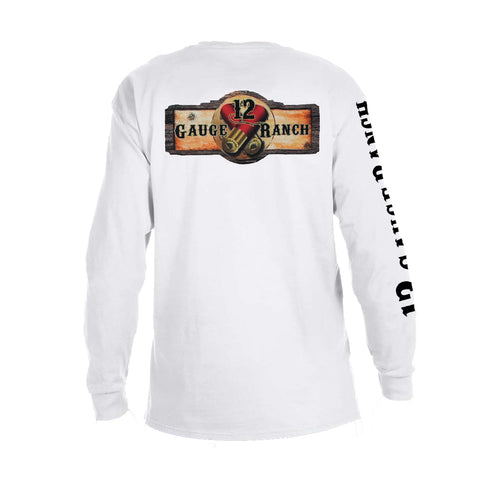 12 Gauge Ranch G12 White Long Sleeve, Apparel, 12 Gauge Ranch, 12 Gauge Ranch 12 Gauge Ranch