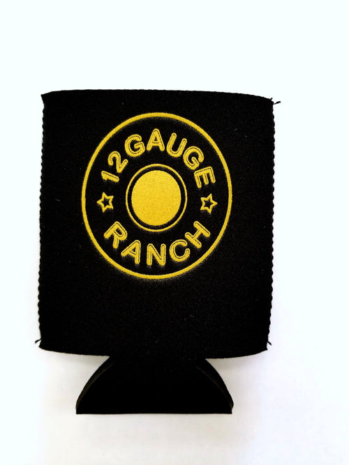 Black 12 Gauge Ranch Koozie (K101), Accessories, 12 Gauge Ranch, 12 Gauge Ranch Ranch  12 Gauge Ranch