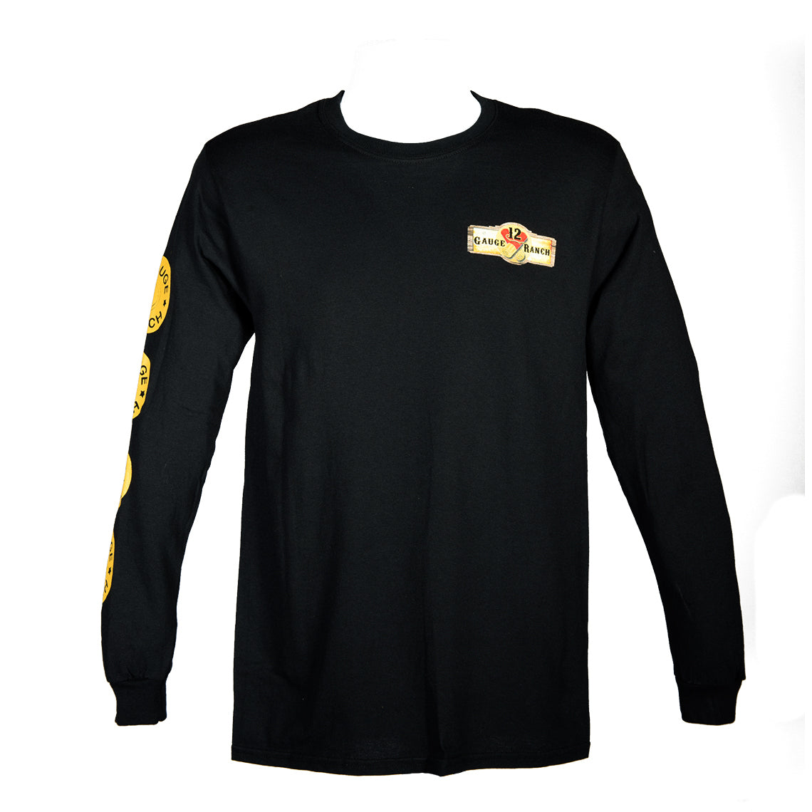 12 Gauge Ranch Black Long Sleeve Shirt (LSCBK102), Apparel, 12 Gauge Ranch, 12 Gauge Ranch Ranch  12 Gauge Ranch