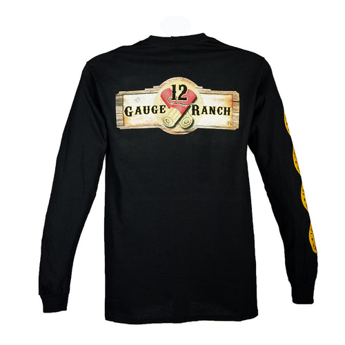 12 Gauge Ranch Men's Black Long Sleeve Shirt (LSGBK101), Apparel, 12 Gauge Ranch, 12 Gauge Ranch Ranch  12 Gauge Ranch