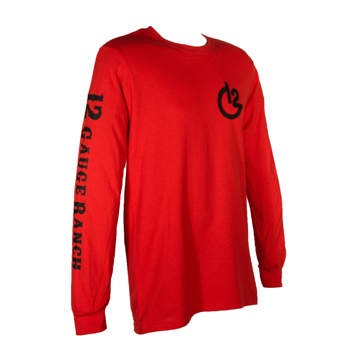 Red 12 Gauge Ranch Long Sleeve Shirt (12GARDLS), Apparel, 12 Gauge Ranch, 12 Gauge Ranch Ranch  12 Gauge Ranch