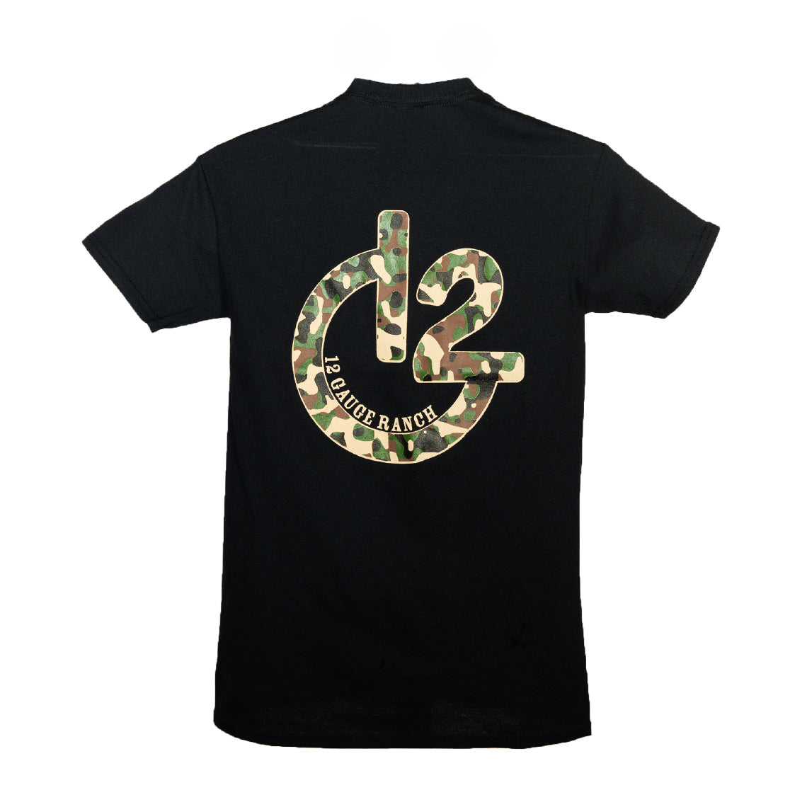 12 Gauge Ranch Black with Camo Short Sleeve T-Shirt, Apparel, 12 Gauge Ranch, 12 Gauge Ranch Ranch  12 Gauge Ranch