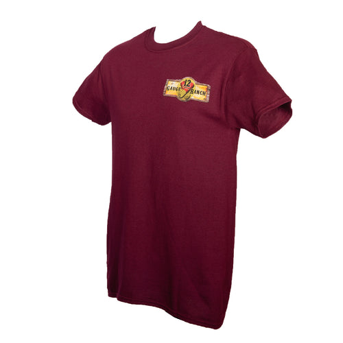 12 Gauge Ranch Maroon Short Sleeve Shirt (SSGMR101), Apparel, 12 Gauge Ranch, 12 Gauge Ranch 12 Gauge Ranch