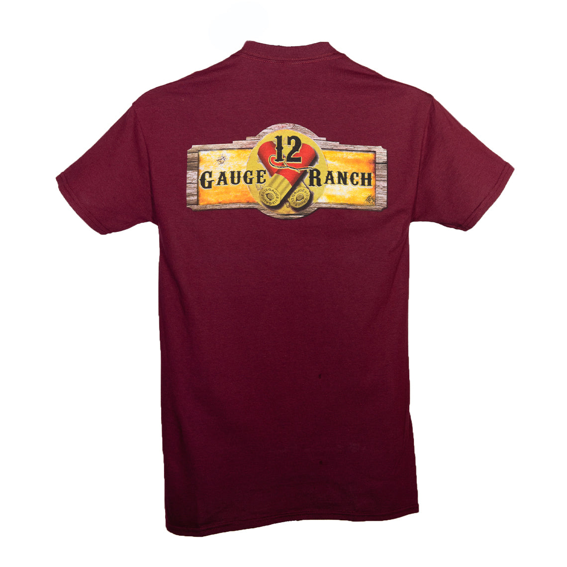 12 Gauge Ranch Maroon Short Sleeve Shirt (SSGMR101), Apparel, 12 Gauge Ranch, 12 Gauge Ranch Ranch  12 Gauge Ranch