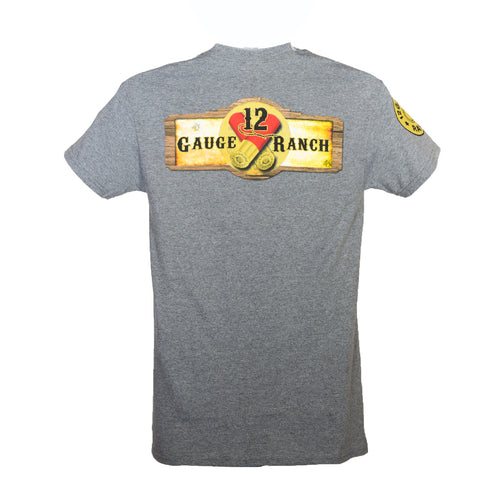 12 Gauge Ranch Heather Grey Short Sleeve Shirt (SSGGH101), Apparel, 12 Gauge Ranch, 12 Gauge Ranch 12 Gauge Ranch