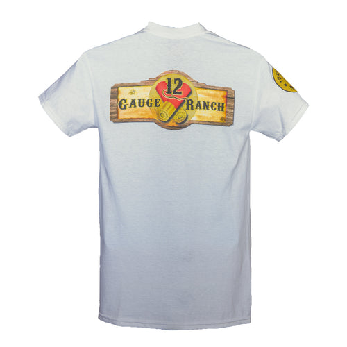 12 Gauge Ranch White Short Sleeve Shirt (SSGWT101), Apparel, 12 Gauge Ranch, 12 Gauge Ranch Ranch  12 Gauge Ranch
