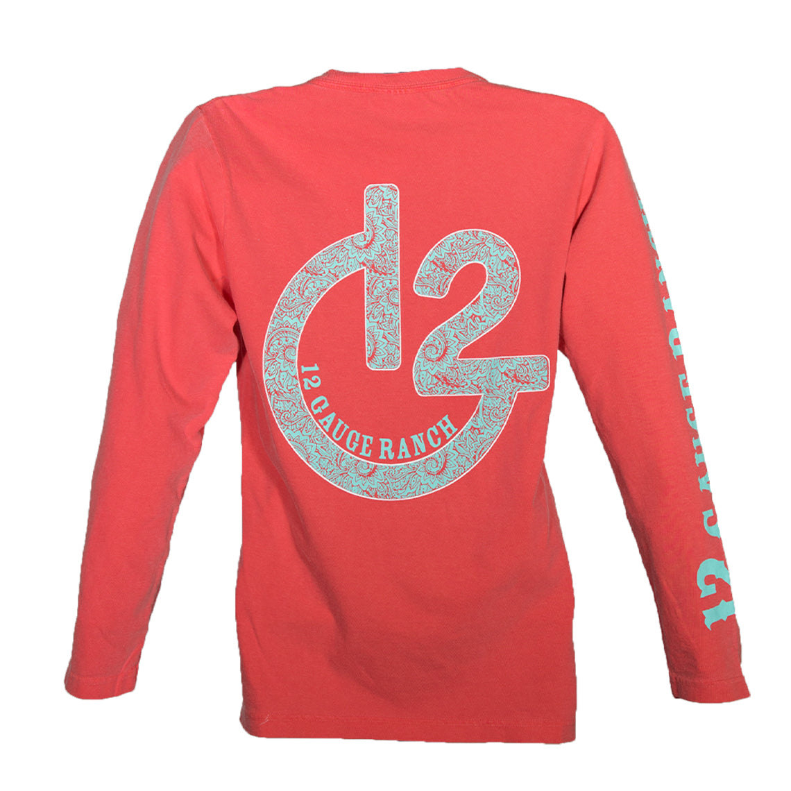Paisley G12 Watermelon Long Sleeve Shirt, Apparel, 12 Gauge Ranch, 12 Gauge Ranch 12 Gauge Ranch