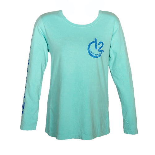 Paisley G12 Mint Long Sleeve Shirt, Apparel, 12 Gauge Ranch, 12 Gauge Ranch Ranch  12 Gauge Ranch