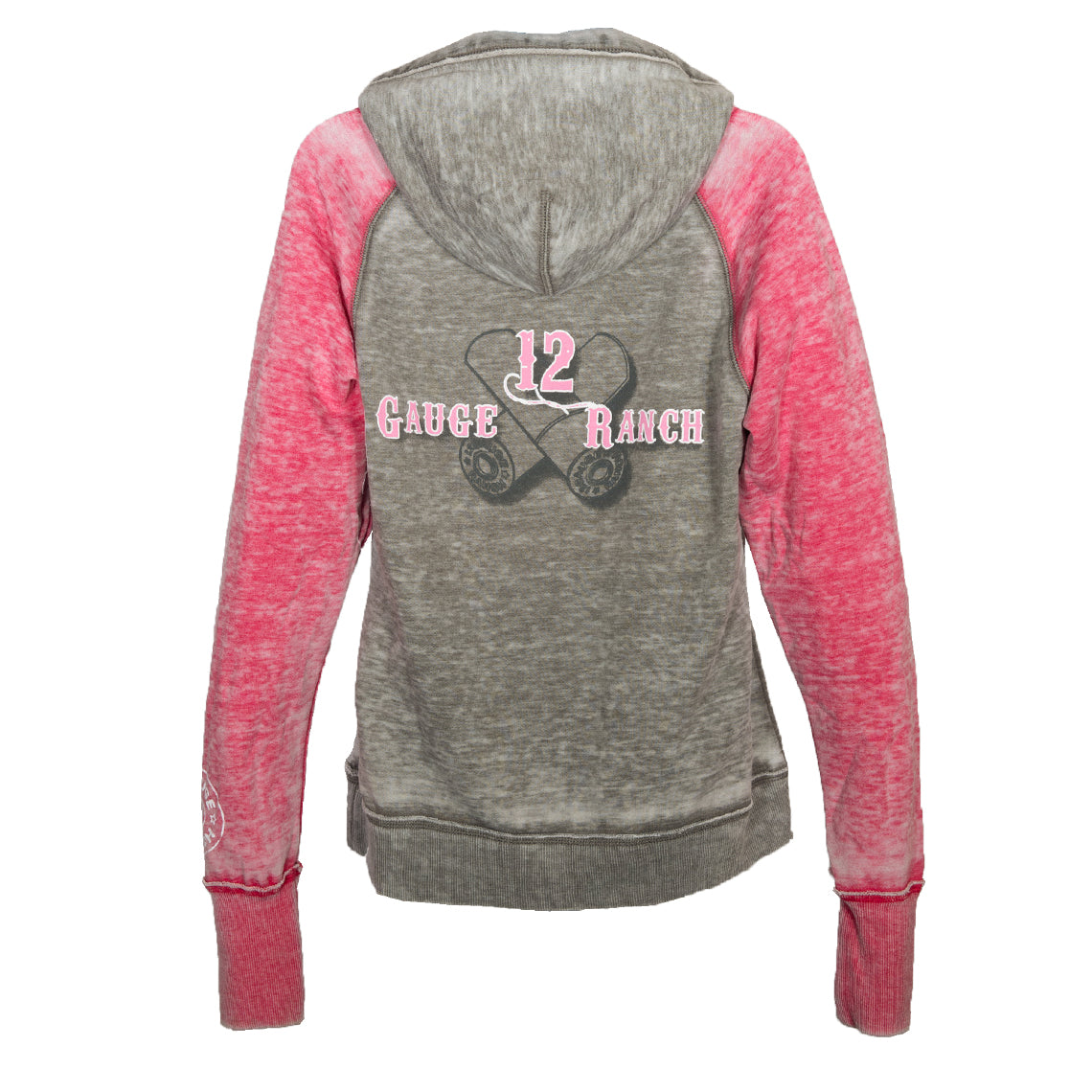 12 Gauge Ranch Pink & Grey Hoodie, Apparel, 12 Gauge Ranch, 12 Gauge Ranch Ranch  12 Gauge Ranch
