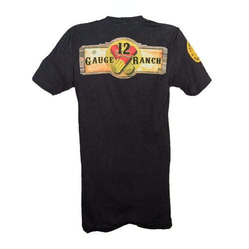12 Gauge Ranch Black Short Sleeve Shirt (SSCBK102), Apparel, 12 Gauge Ranch, 12 Gauge Ranch Ranch  12 Gauge Ranch