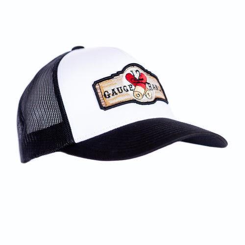 12 Gauge Ranch Baseball Hat White and Black (BBH104WB), Hats, 12 Gauge Ranch, 12 Gauge Ranch 12 Gauge Ranch