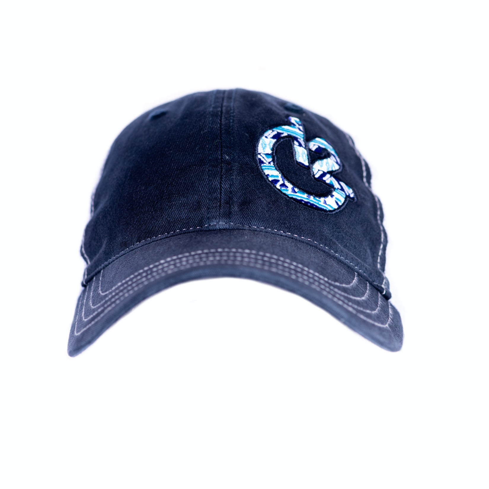9c209f3bced5b 12 Gauge Ranch Aztec Navy and White Low Profile Baseball Hat