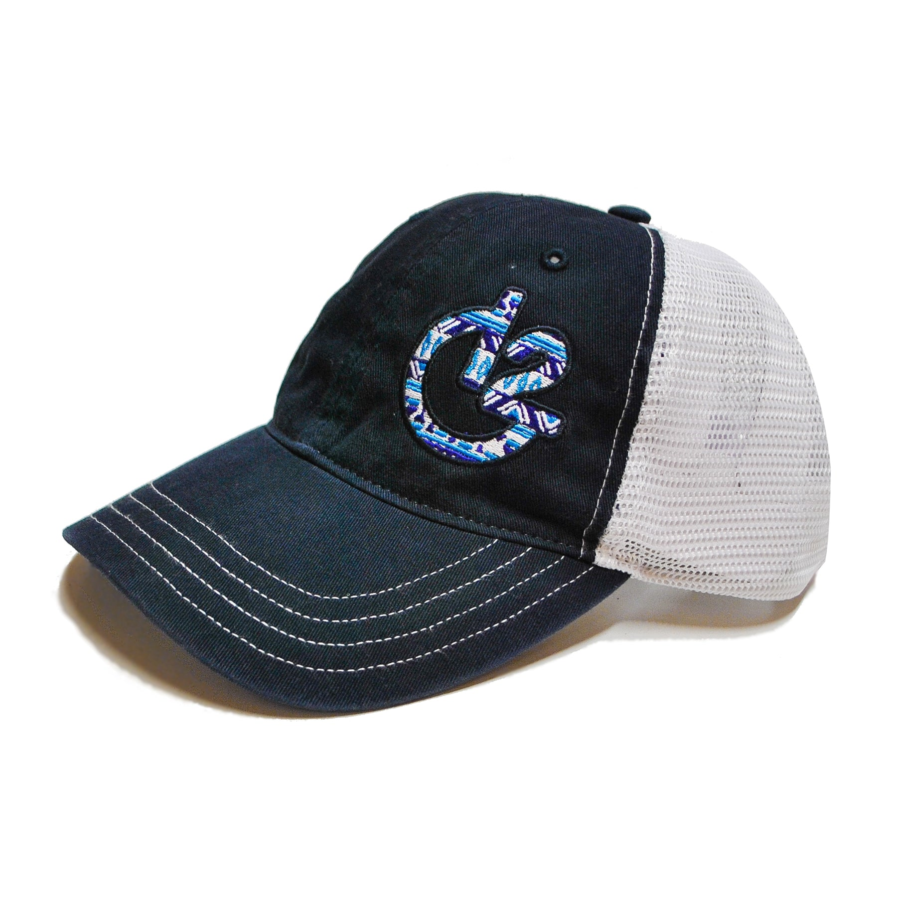 12 Gauge Ranch Aztec Navy and White Low Profile Baseball Hat, Hats, 12 Gauge Ranch, 12 Gauge Ranch 12 Gauge Ranch