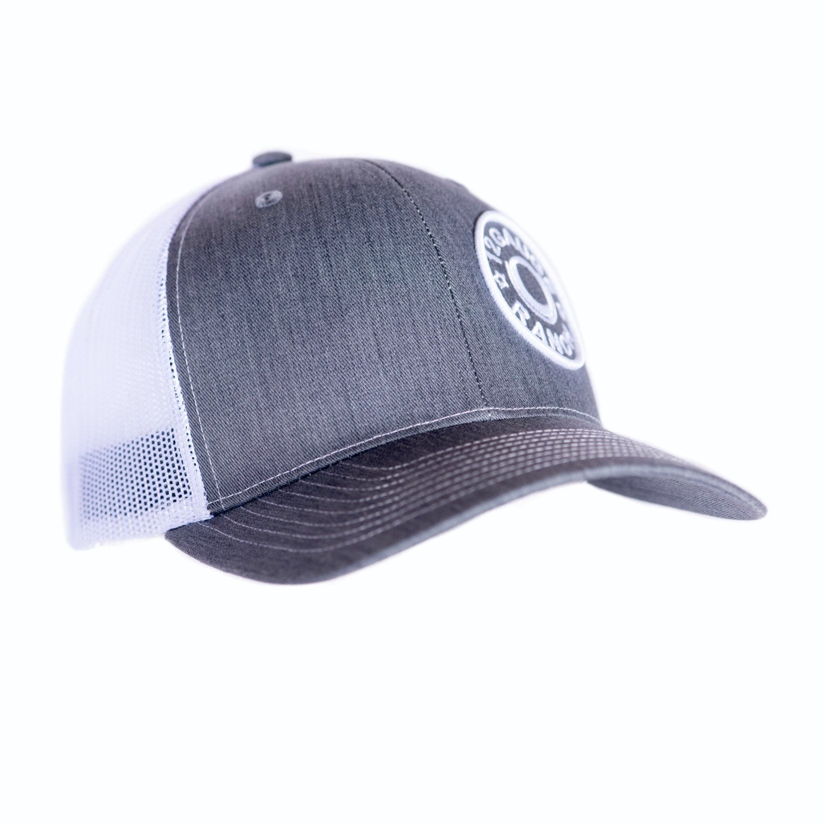 d16e66a7092 Heather Grey and White 12 Gauge Ranch Baseball Hat (BBH112GW)