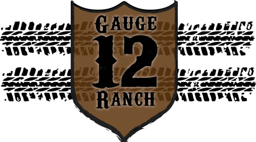 Tire Tracks with 12 Gauge Plate 16oz Insulated Covo Cup, Accessories, 12 Gauge Ranch, 12 Gauge Ranch 12 Gauge Ranch
