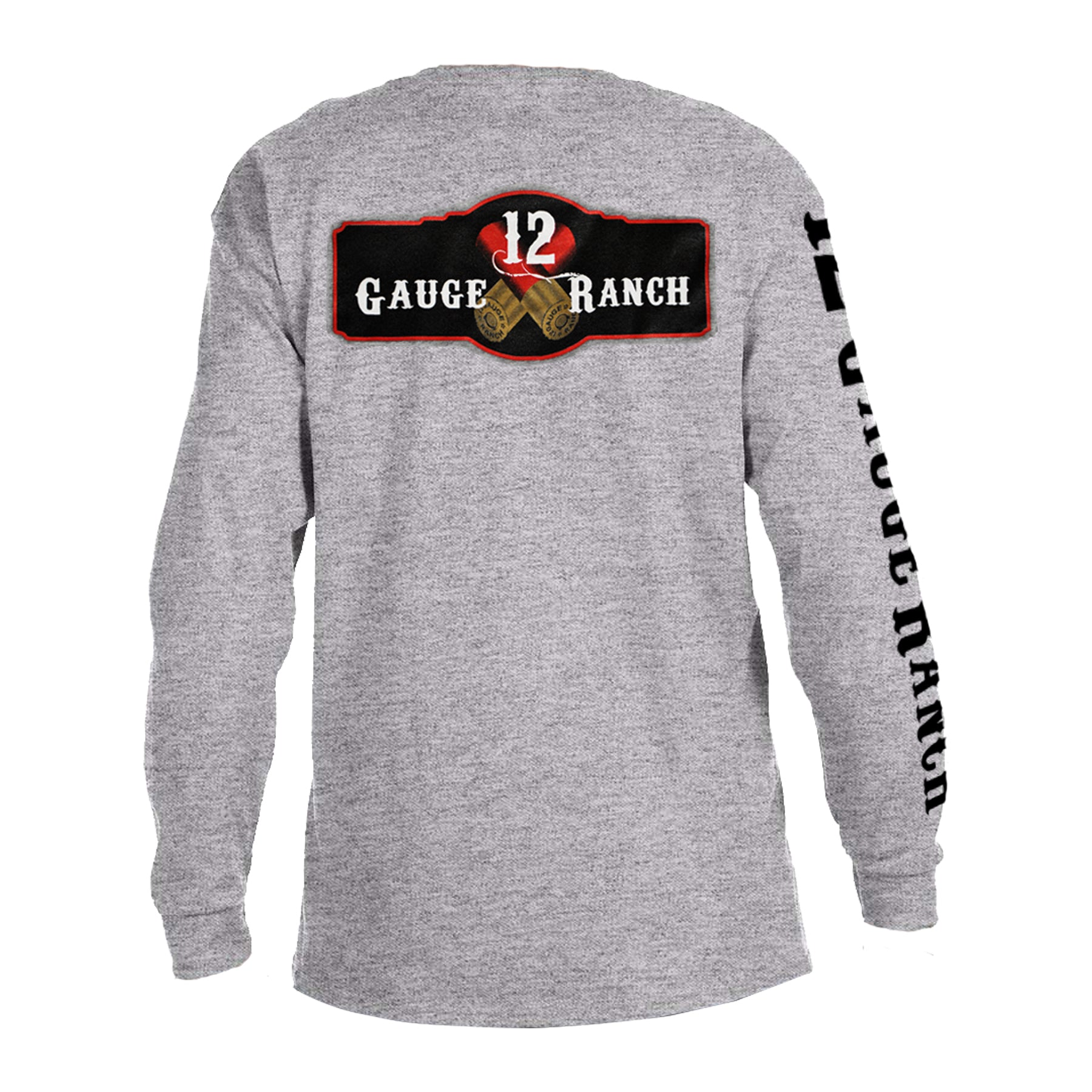 12 Gauge Ranch Men's Gray Long Sleeve Shirt (LSGRY101), Apparel, 12 Gauge Ranch, 12 Gauge Ranch 12 Gauge Ranch