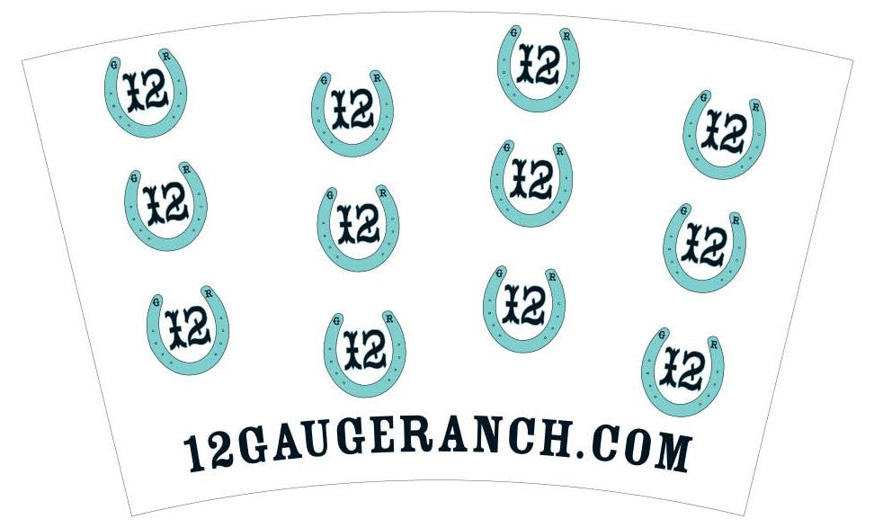 12 Gauge Teal Horseshoes 16oz Insulated Covo Cup, Accessories, 12 Gauge Ranch, 12 Gauge Ranch Ranch  12 Gauge Ranch