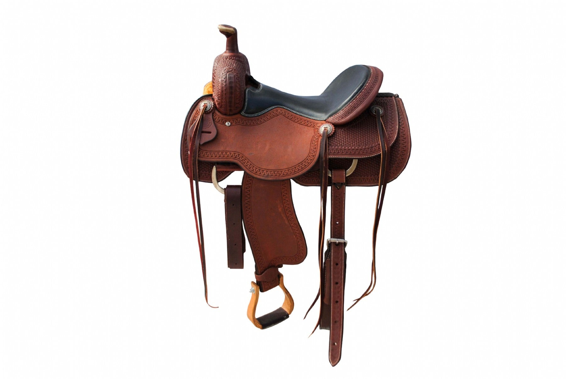 "12 Gauge Elite Custom All Around Saddle 16"" (ELSDDL1), Saddle, 12 Gauge Ranch, 12 Gauge Ranch Ranch  12 Gauge Ranch"