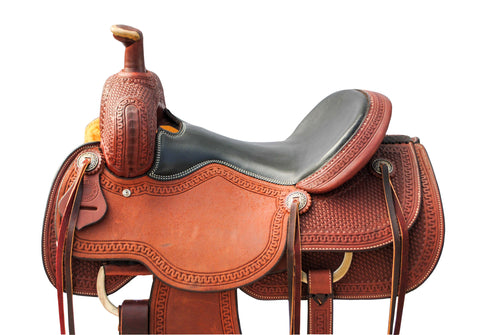 "12 Gauge Elite Custom All Around Saddle 16"" (ELSDDL1), Saddle, 12 Gauge Ranch, 12 Gauge Ranch 12 Gauge Ranch"