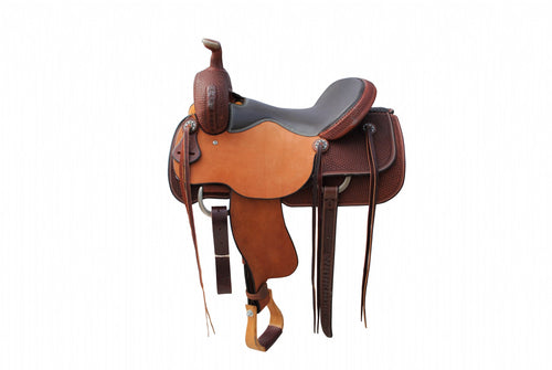 "12 Gauge Elite Custom Cutting Saddle 16"" (ELSDDL03), Unclassified, 12 Gauge Ranch, 12 Gauge Ranch 12 Gauge Ranch"