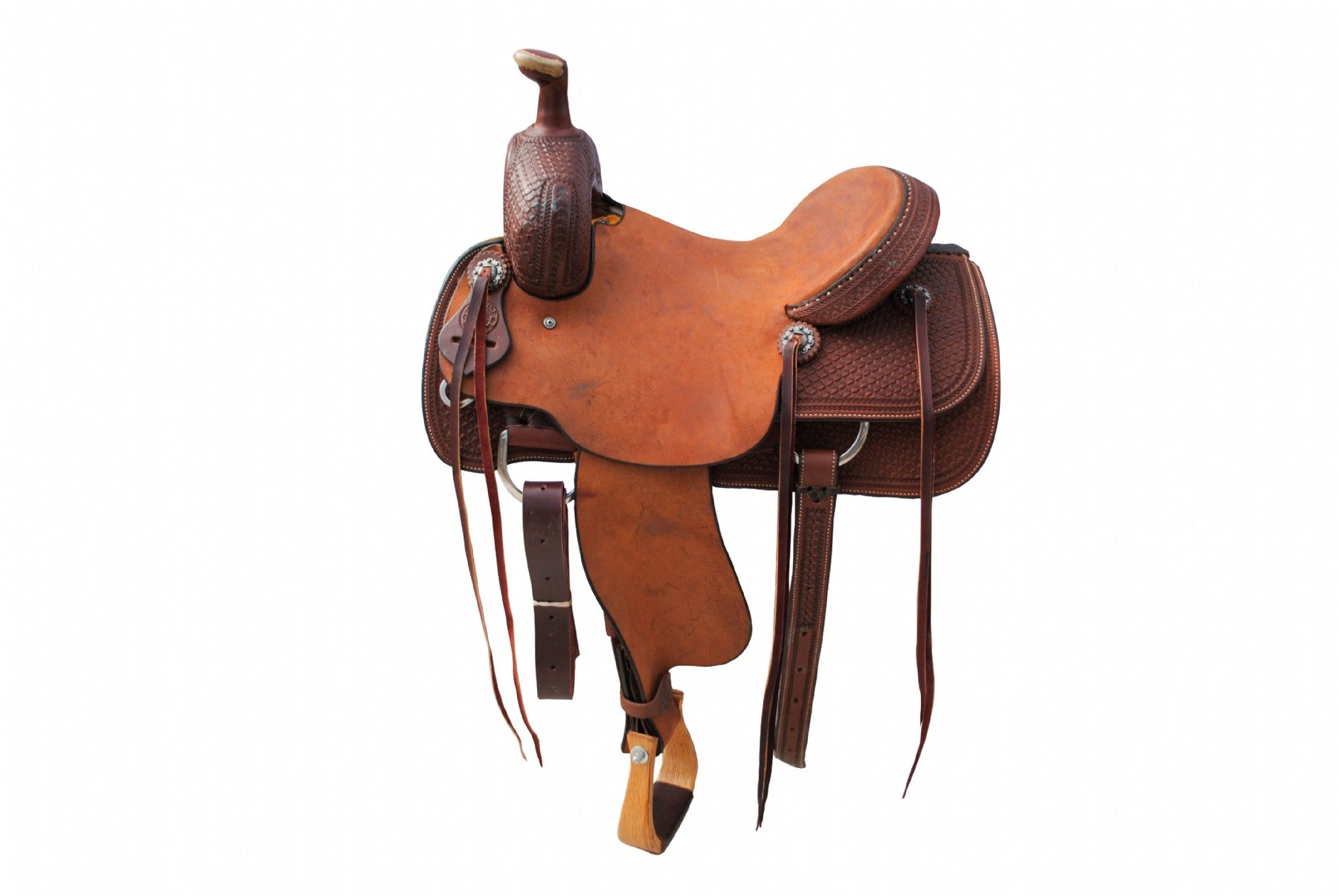 "12 Gauge Elite Custom Ranch Cutter Saddle 14.5"" (ELSDDL04), Saddle, 12 Gauge Ranch, 12 Gauge Ranch Ranch  12 Gauge Ranch"
