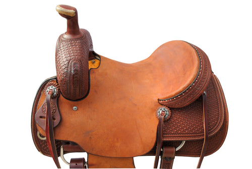 "12 Gauge Elite Custom Ranch Cutter Saddle 14.5"" (ELSDDL04), Saddle, 12 Gauge Ranch, 12 Gauge Ranch 12 Gauge Ranch"