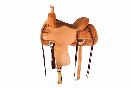"12 Gauge Elite Custom Cutting Saddle 15"" (ELSDDL08), Saddle, 12 Gauge Ranch, 12 Gauge Ranch Ranch  12 Gauge Ranch"