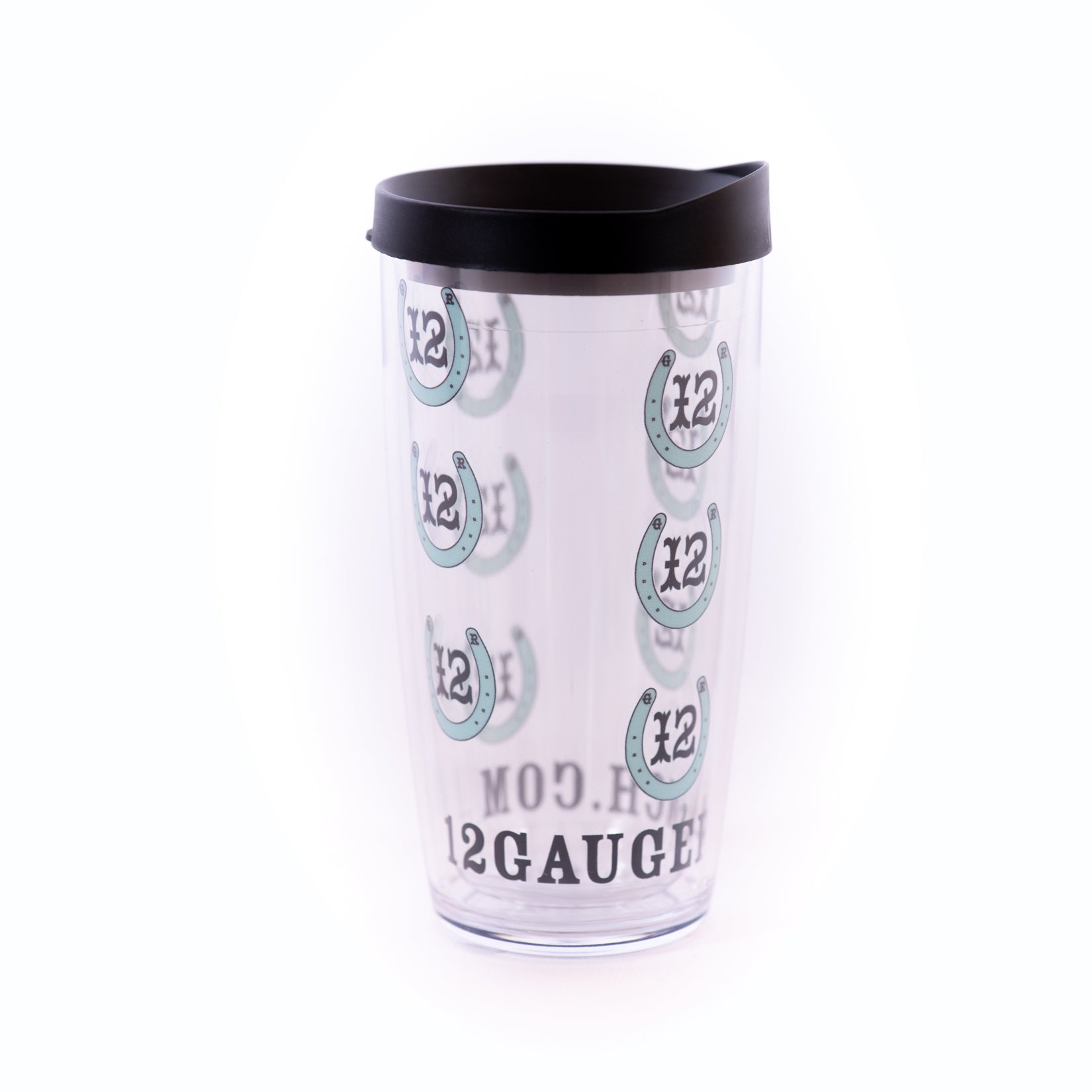 12 Gauge Teal Horseshoes 16oz Insulated Covo Cup, Accessories, 12 Gauge Ranch, 12 Gauge Ranch 12 Gauge Ranch