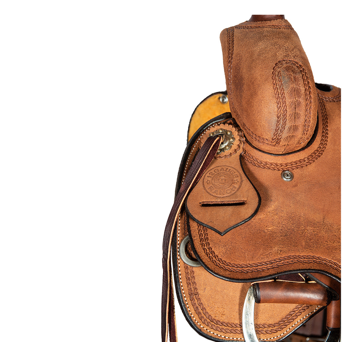 "12 Gauge Elite Custom Will James Saddle 15.5"" (ELSDDL10), Saddle, 12 Gauge Ranch, 12 Gauge Ranch 12 Gauge Ranch"