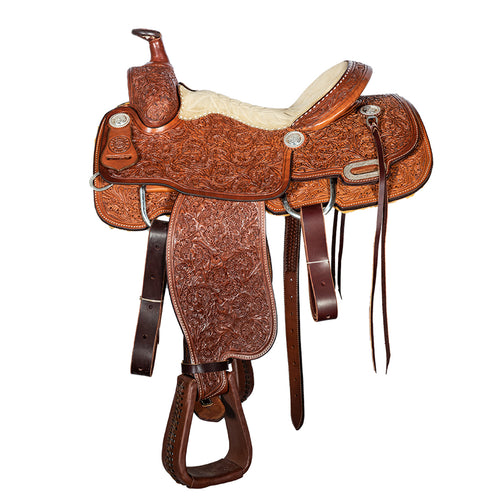 "12 Gauge Elite Custom Roper Saddle 15"" (ELSDDL16), Saddle, 12 Gauge Ranch, 12 Gauge Ranch Ranch  12 Gauge Ranch"