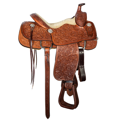 "12 Gauge Elite Custom Roper Saddle 15"" (ELSDDL16), Saddle, 12 Gauge Ranch, 12 Gauge Ranch 12 Gauge Ranch"