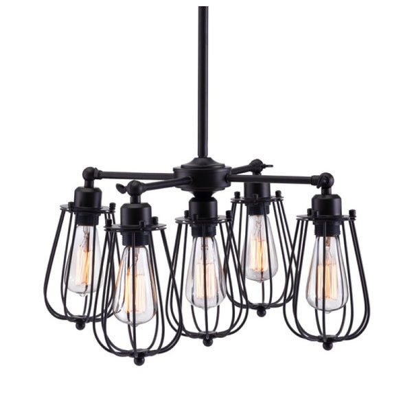 PORIRUA CEILING LAMP DISTRESSED BLACK