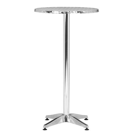CHRISTABEL ROUND BAR TABLE ALUMINUM
