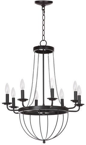 ABRHAM 23-INCH DIA ADJUSTABLE CHANDELIER