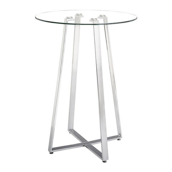 LEMON DROP BAR TABLE CHROME