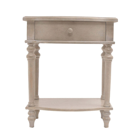 Rosanna One Drawer Side Table/Grey