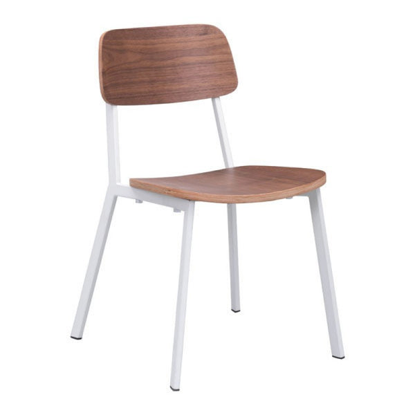 CAPPUCCINO DINING CHAIR WHITE & WALNUT
