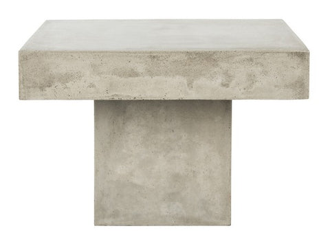 TALLEN MODERN CONCRETE 15.75-INCH H COFFEE TABLE INDOOR/OUTDOOR