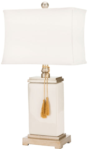 AMILIANA CREAM GLAZED 32-INCH H TASSEL LAMP