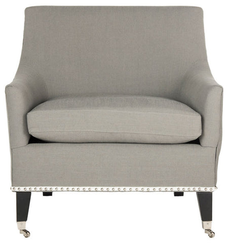 Barlow Arm Chair W/ Silver Nail Heads