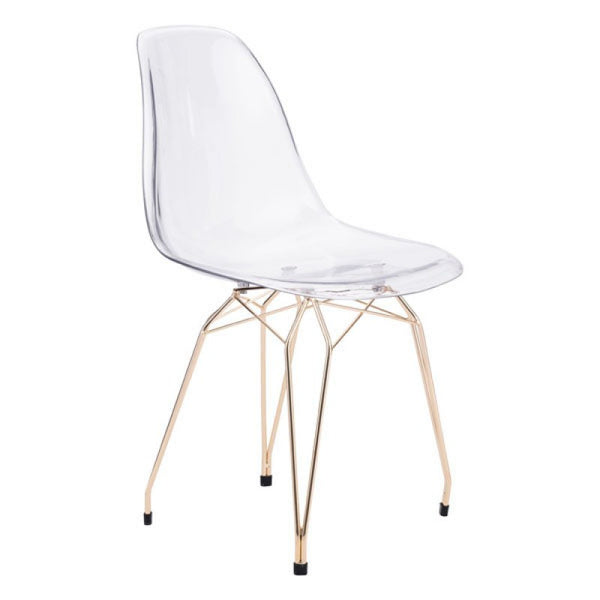 SHADOW DINING CHAIR TRANSPARENT & GOLD