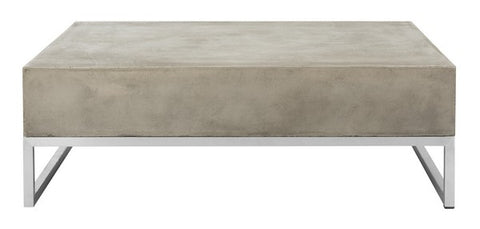 EARTHA MODERN CONCRETE 11.42-INCH H COFFEE TABLE INDOOR/OUTDOOR